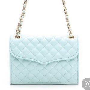 Rebecca Minkoff Quilted Affair Bag in Tiffany Blue